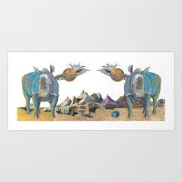 CoR Big Blue Coffee Mug Art Print