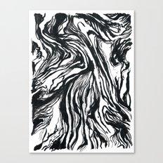 Marbled Black Canvas Print