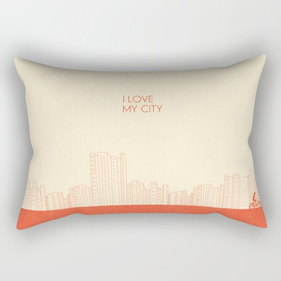 I love my City Rectangular Pillow