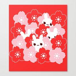 Sakura Bunny Canvas Print