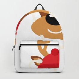 Cute Reindeer Nurse Christmas Backpack