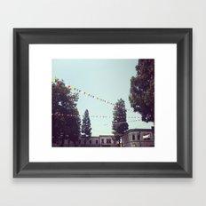 Flags in Fall Framed Art Print