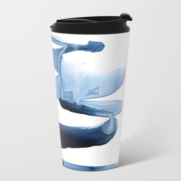 Abstract Indigo no. 2 Metal Travel Mug