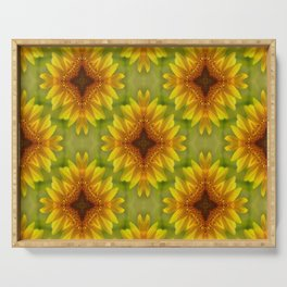 Delighted Sunflowers.... Serving Tray