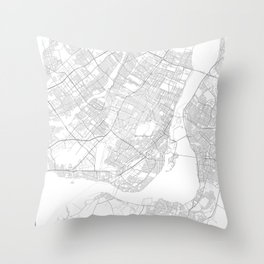 Montreal, Canada Minimalist Map Throw Pillow