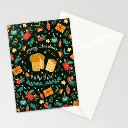 Merry Christmas panettone  Stationery Cards