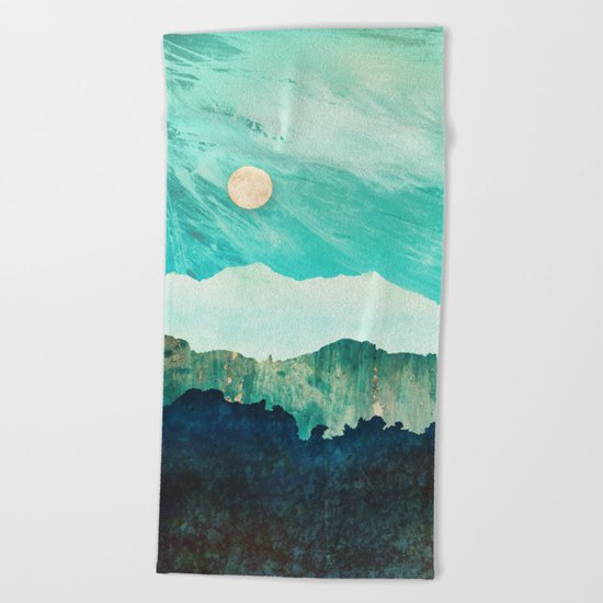 Blue Moon Beach Towel