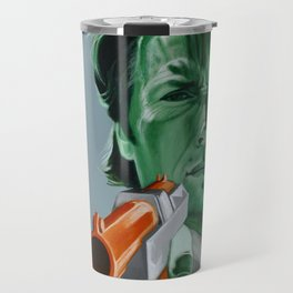 """Feel lucky, duck?"" Travel Mug"