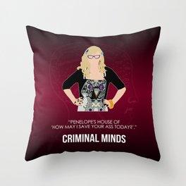 Criminal Minds - Garcia Throw Pillow