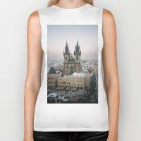 prague Biker Tanks featuring Prague by BriAnneWills