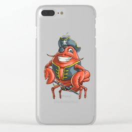 Lobster Pirate Funny Ocean Sea Creature Clear iPhone Case