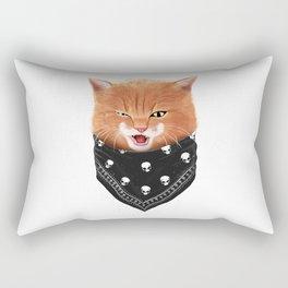Cheeky cat Rectangular Pillow