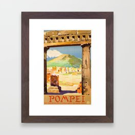 Vintage Pompei Italy Travel Framed Art Print
