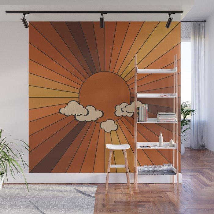 Retro Sunshine Wall Mural
