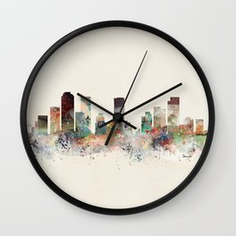 denver colorado skyline Wall Clock