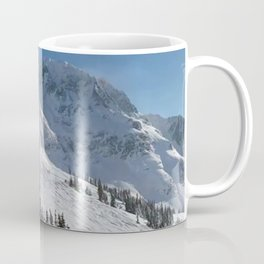 Mountains color palette of white-black-blue Coffee Mug