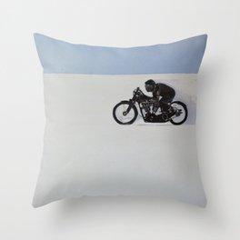 Brough Superior on the Salt Throw Pillow