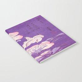 Japanese FLowers Purple Pink Notebook