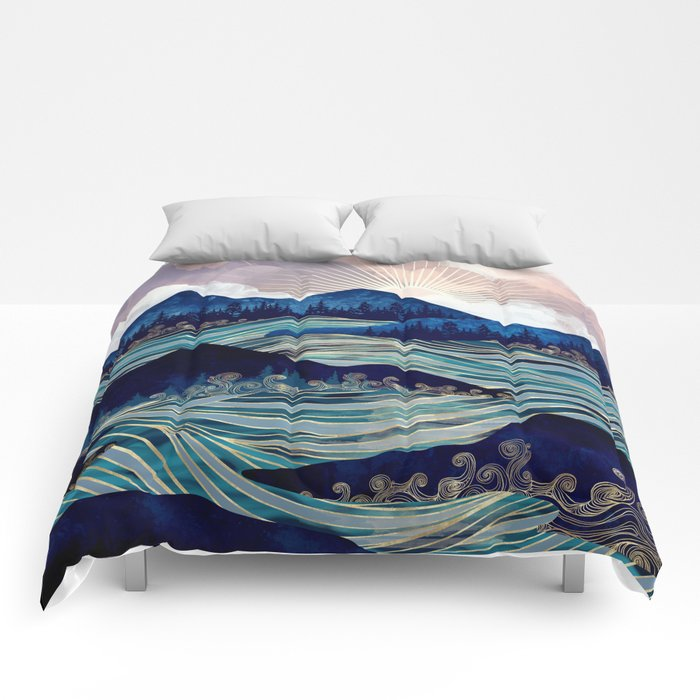 Ocean Sunrise Comforters