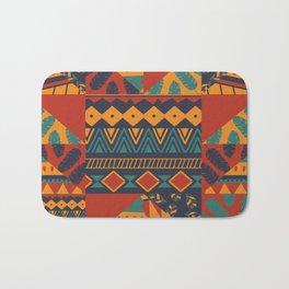 Tribal Abstract Wallpaper Bath Mat