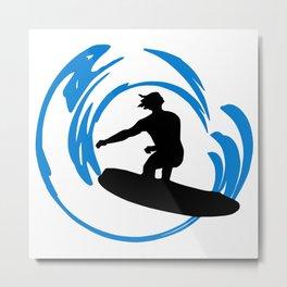 Wave Surfer Dude  Metal Print