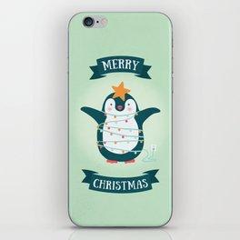 Christmas tree Penguin iPhone Skin