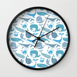 Whales Pattern Wall Clock