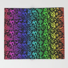 Joshua Tree Colores By CREYES Throw Blanket