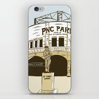 pittsburgh iPhone & iPod Skins featuring Pittsburgh Baseball by K. Sekelsky