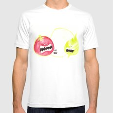 Attack of the Killer Caprese White Mens Fitted Tee MEDIUM