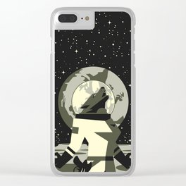 Werewolf in the Moon Clear iPhone Case