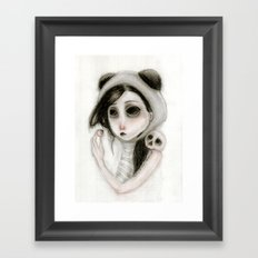 The inability to perceive with eyes notebook I Framed Art Print