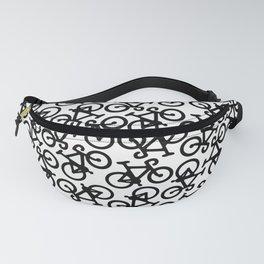 Black Bikes Pattern Fanny Pack