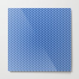 Pattern with triangles and trapezes in blue Metal Print