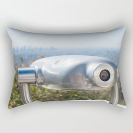 Coin operated telescope at the Griffith Observatory Rectangular Pillow