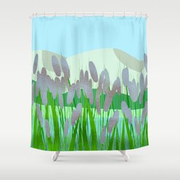 Near to river Shower Curtain