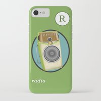 transistor iPhone & iPod Cases featuring Transistor Radio Flash Card by paper moon projects