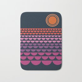 Gee Wiz - retro throwback minimal 70s style classic vibes sunset beach ocean socal 1970's poster Bath Mat