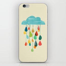 cloudy with a chance of rainbow iPhone Skin