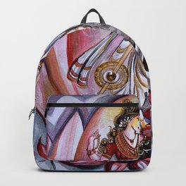 Musical Goddess Saraswati - Healing Art Backpack