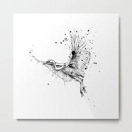 Birds/Egretta Alba Metal Print