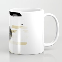 Black Moon Abstract Minimalist Art Coffee Mug