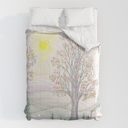 Paths to the Sunny Side Comforters
