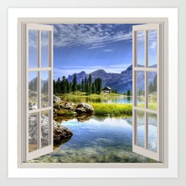 Beautiful Lake | OPEN WINDOW ART Kunstdrucke