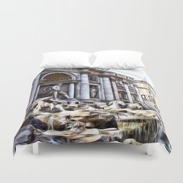 Patterns of Places - Rome Duvet Cover