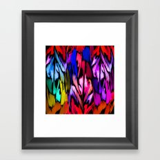 Feather Rainbow Framed Art Print