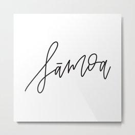 Samoa Calligraphy Metal Print