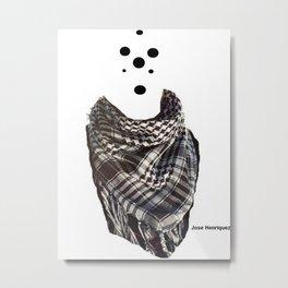 Dots Bandana Metal Print