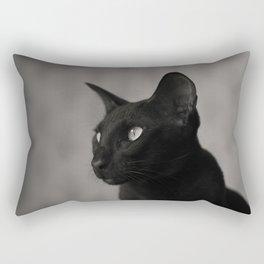 Oriental black cat Rectangular Pillow
