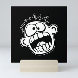 Funny Face Cartoon  Mini Art Print